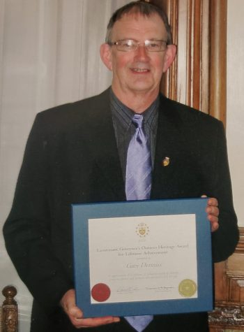 Pic of Dad with Award